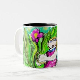 fairy art four Two-Tone coffee mug