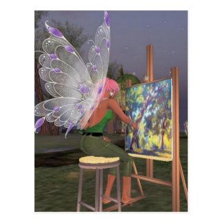 Fairy Artist Twinkletoes Postcard