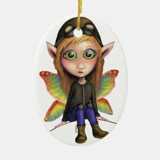 Fairy Aviator Christmas Ornament