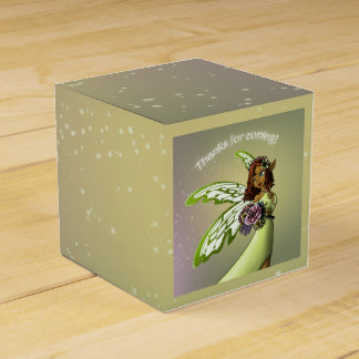 """""""Fairy Birthday Favor Box Classic 2X2"""" Favour Boxes"""