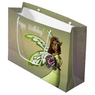 """Fairy Birthday Gift Bag - Large, Glossy"" Large Gift Bag"