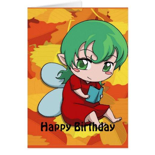 Fairy Birthday - I love books Greeting Cards