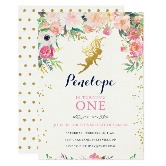 Fairy birthday invitation zazzle fairy birthday invitation stopboris Image collections