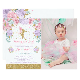 Fairy Birthday Invitation Whimsical Magical Party