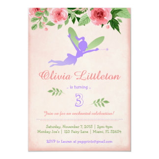Fairy Birthday Invitations - Fairy Birthday Party