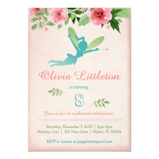 Fairy Birthday Party Invitations - Fairy Garden