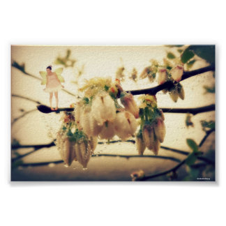 Fairy Blessings and Blueberry Blossoms Poster