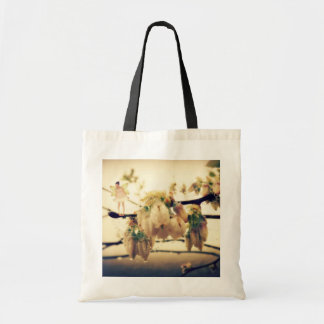 Fairy Blessings and Blueberry Blossoms Tote Bag