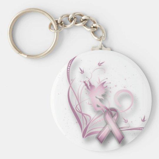 Fairy Breast Cancer Keychain