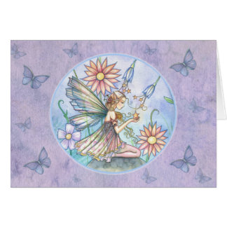 Fairy Butterfly Blank Card by Molly Harrison
