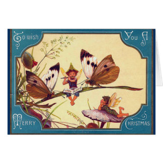 Fairy Butterfly Christmas Card