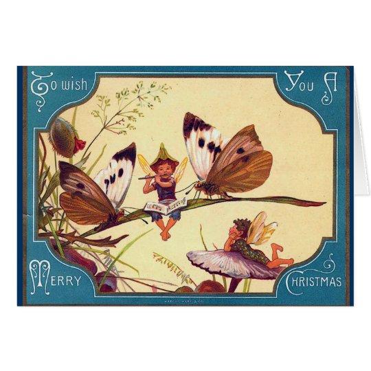 Fairy Butterfly Christmas Card