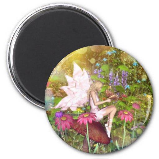 Fairy butterfly friends magnet
