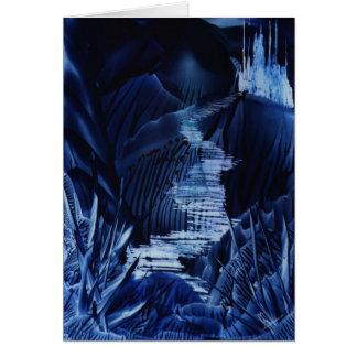 Fairy Castle Encaustic Art Note Card