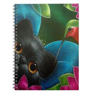FAIRY CAT & HUMMINGBIRD Spiral Photo Notebook