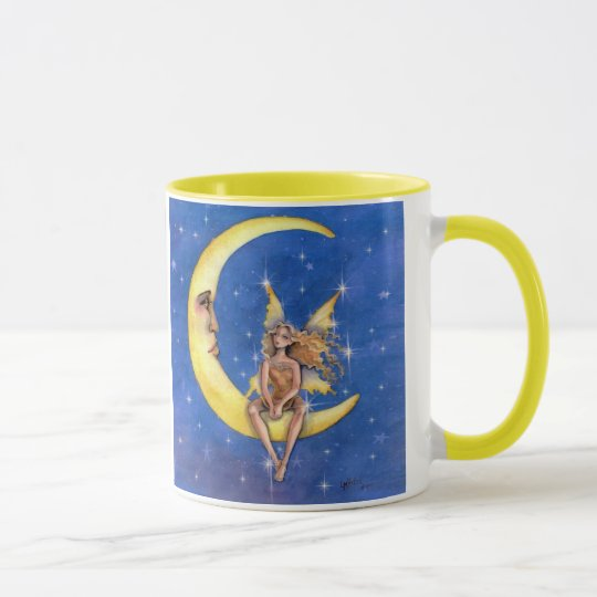 fairy chatting with the moon mug