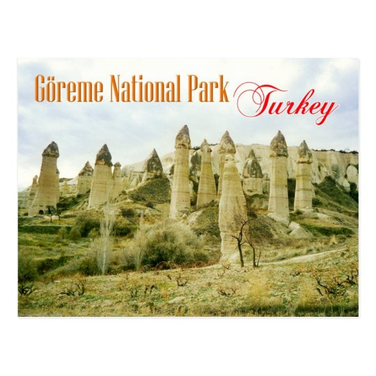 Fairy Chimney rock formations, Cappadocia, Turkey Postcard