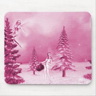 Fairy Christmas decorating mousepad