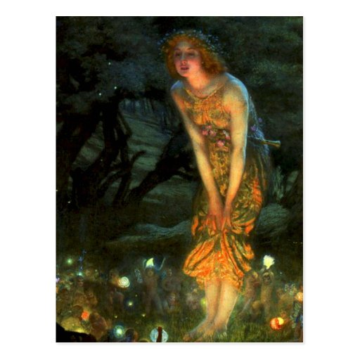 Fairy Circle Fairies Midsummer Eve Postcard