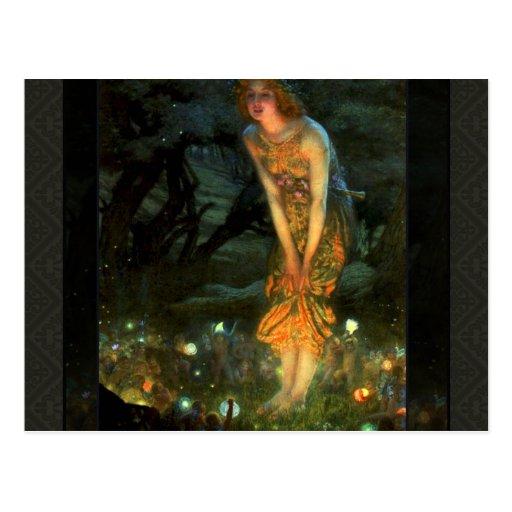 Fairy Circle Fairies Midsummer Eve Post Card