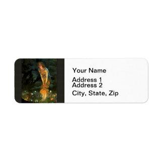 Fairy Circle Fairies Midsummer Eve Return Address Label