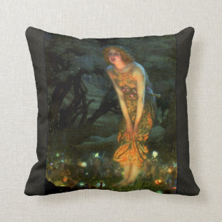 Fairy Circle Fairies Midsummer Eve Throw Pillow