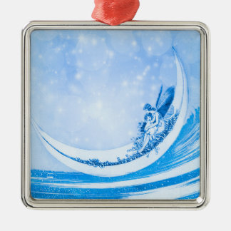FAIRY & CRESCENT MOON AT SEA CHRISTMAS ORNAMENT