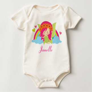 Fairy Cute Rainbow Girls Personalized Baby Bodysuit