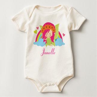Fairy Cute Rainbow Girls Personalized Bodysuit