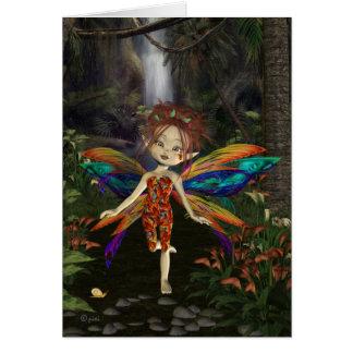Fairy Dahlia - Greeting Card