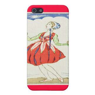 Fairy Dancer Asian Woodblock Print Covers For iPhone 5
