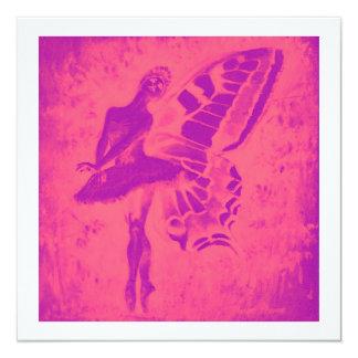 Fairy Dancer Invite 13 Cm X 13 Cm Square Invitation Card