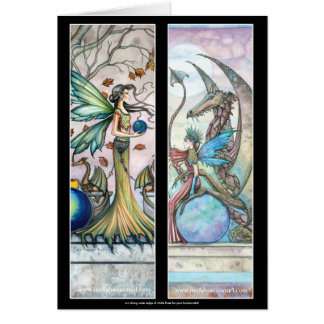 Fairy Dragon Bookmarks Card by Molly Harrison
