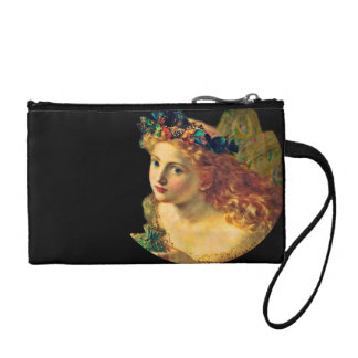 Fairy Face with Butterfly Halo Coin Wallet