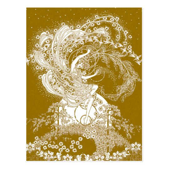 Fairy [Faerie] Illustration by Dorothy Lathrop Postcard