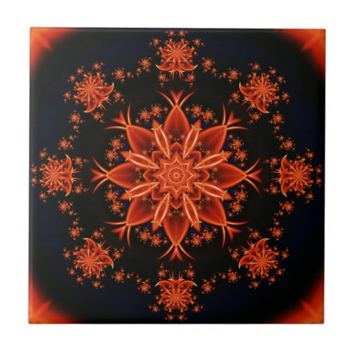 Fairy flower dance ceramic tile