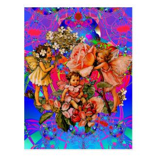 Fairy Flower Friends Postcard