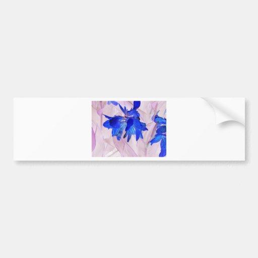Fairy flowers bumper sticker