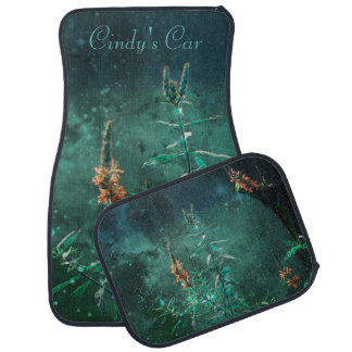 Fairy Flowers in the Jade Moonlight Car Mat