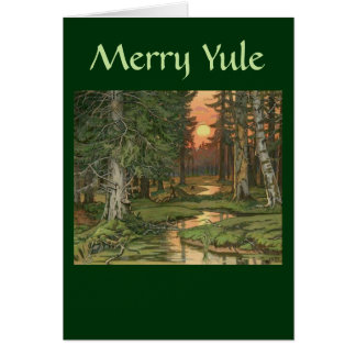 """Fairy Forest at Sunset"" - Merry Yule card"