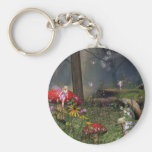 Fairy Forest Basic Round Button Key Ring