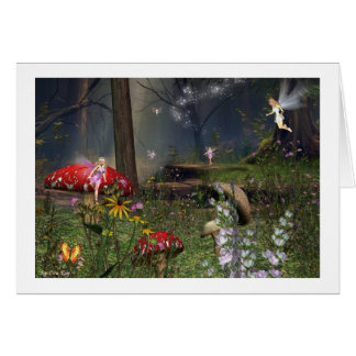 fairy forest note card