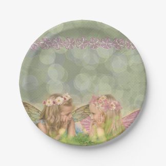 'Fairy Friends' Paper Plates 7 Inch Paper Plate