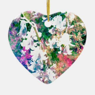 Fairy Garden Ceramic Heart Decoration