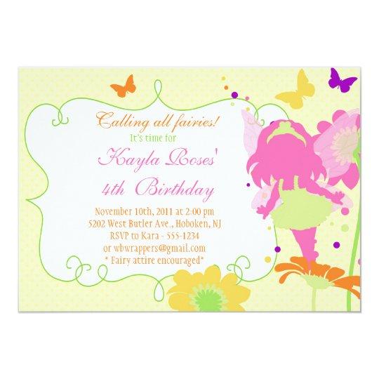 FAIRY GARDEN PARTY Birthday Invitation