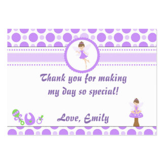 Fairy Gift Favor Label Tag Pixie Purple Pack Of Chubby Business Cards