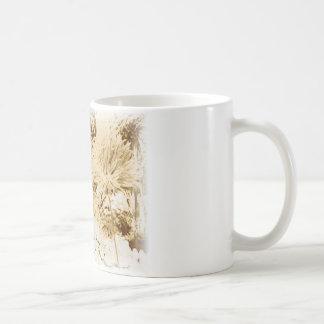 Fairy girl in the garden - Sepia Coffee Mug