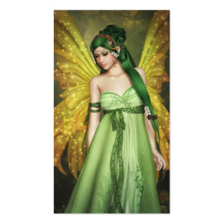 Fairy Girl with Green Hair Double-Sided Standard Business Cards (Pack Of 100)