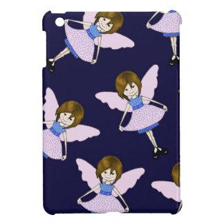 Fairy Girl with Wings, Random Pattern, Art iPad Mini Cover