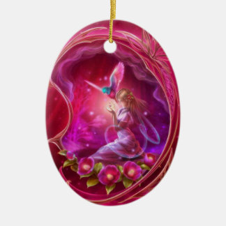 Fairy - Girly Digital Art Christmas Ornament